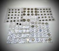 Great Britain pre 1947/pre 1920 silver coins Lot comprises: 2/6d (x2), 2/- (x12), 1/- (x33), 6d (