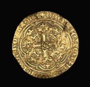 Great Britain Gold Half Noble 1356-61 Edward III 4th coinage pre treaty period - London Mint.