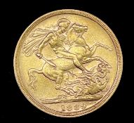 Great Britain Gold Sovereign 1889 Jubilee Head Condition: please request a condition report if you