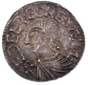 Aethelred II 978-1016 Long cross 1d, moneyer carca, Exeter. Very nice grade. Condition: please