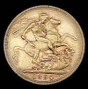 Great Britain Gold Sovereign 1894 Veiled Head. Melbourne Mint mark Condition: please request a