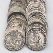 Great Britain 2/- Pre 1920 & Pre 1947 silver Comprising pre 1920 silver, £2.40 face value plus pre