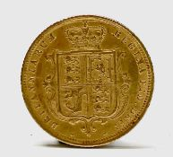 Great Britain Gold Half Sovereign 1884 Queen Victoria Shield young head Condition: please request