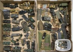 Military - well painted plastic kit Military Vehicles / Small Dioramas. Two boxes containing in