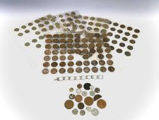 Great Britain, etc - Mixed Lot. Comprising a quantity of halfpenny and brass threepence coins