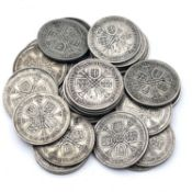 Great Britain King George V 2/- 1928-36 Pre 1947 silver (x29) A selection as follows: 1928 (x4),