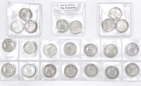 Great Britain Silver 6d King George V - Better examples 1920 - 27 (x14). 1920 (x2), 1921 (x2), 1922,