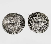 Elizabeth I, Sixpences x 2 1568 F, a few knocks; 1569 F Condition: please request a condition report