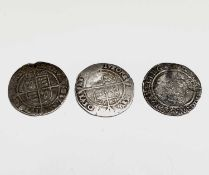 Elizabeth I, Sixpences x 3. 1562, 1567 and 1568, all worn. Condition: please request a condition
