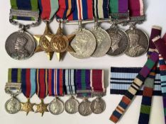 North West Frontier India and Second World War Medal Group. A group of 7 medals as follows: India