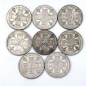 Great Britain King George V 2/- 1928-1936 period - Select examples (x8) 1928, 1929, 1930 all circa