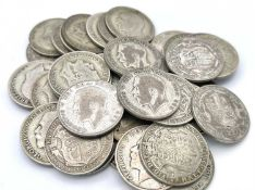 Silver Halfcrowns pre 1947 King George V (x39) £4.87 face of pre 1947 halfcrowns - 1st issue