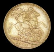 Great Britain Gold Sovereign 1904 Edward VII. Sydney Mint mark Condition: please request a condition