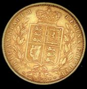 Great Britain Gold Sovereign 1871 Die no.2 Shield Back Condition: please request a condition