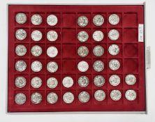 Great Britain 1/- King George VI 1937-1946 period (pre 1947 silver) (x40) 2 sets of 1937- 1946