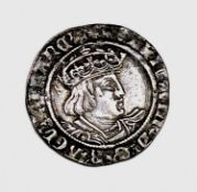 Henry VIII 1526-44 Second Coinage Groat, mm. unclear but probably rose. Nice grade. Condition: