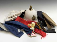 Royal Marines / other Helmets, Hats, etc. Comprising an excellent quality Royal Marines Pith