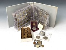 Great Britain, etc coins Lot comprises 4 x £2 brass and 2 x £5 decimal coins, a 1951 boxed