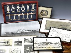 Military - Royal Navy Ark Royal and other Naval Interest. Comprising 7 framed pictures relating to