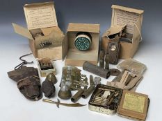 Miscellaneous Military. Lot comprises three boxes. Noted: Various shellcases, de-activated hand