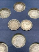 Great Britain Silver 6d Queen Victoria 1840-1892 period. (x18) Attractive F to VF condition