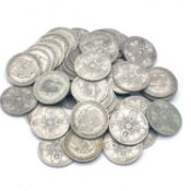 Great Britain King George V 2/- 1920-1926 period (pre 1947 silver) (x54) A selection from this