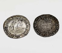Elizabeth I, Sixpences x 2. 1580 F; 1581 F. Condition: please request a condition report if you