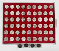 Great Britain 1/- King George VI and Queen Elizabeth - Complete 1937-1966 set Comprises 1937-1946
