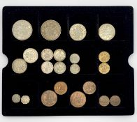 1937 UK Coronation set - Bronze Farthing to Silver Crown (x2) plus 5 later year / part year sets.