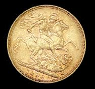 Great Britain Gold Sovereign 1893 Veiled Head Condition: please request a condition report if you