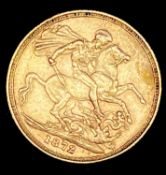 Great Britain Gold Sovereign 1872 George & Dragon Condition: please request a condition report if