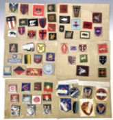 British and American Divisional and Formation Signs. Lot comprises approximately 50 British