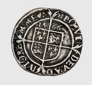 Elizabeth I, Sixpence 1566. F, nice detail. Condition: please request a condition report if you