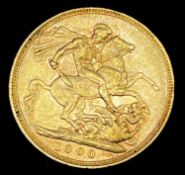 Great Britain Gold Sovereign 1900 Veiled Head Condition: please request a condition report if you
