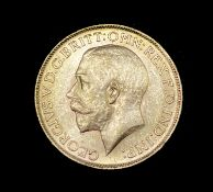 Great Britain Gold Sovereign 1917 EF George V. C (Ottawa mint mark). Condition: please request a