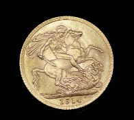 Great Britain Gold Sovereign 1914 NEF George V Condition: please request a condition report if you
