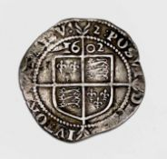 Elizabeth I, Sixpence 1602. F+, nice detail, possibly slight trimming. Condition: please request a