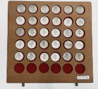 Great Britain King George VI 2/- 1937-1946 Pre 1947 silver (x30) Comprises 3 sets of silver bright