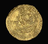 Great Britain Gold Noble Edward III Pre treaty coinage - ie: pre 1362. Apparently found on a farm at
