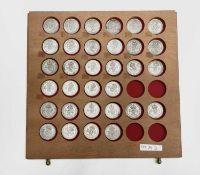 Great Britain King George VI 2/- 1937-1946 Pre 1947 silver Comprises 3 sets of silver bright high