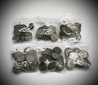 Great Britain Silver 3d King George V Acorn pattern (x 388). Comprising: 1931 (x70), 1932 (x73),