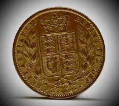 Great Britain Gold Sovereign 1861 Queen Victoria Shield Back Condition: please request a condition