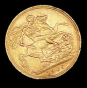 Great Britain Gold Sovereign 1909 slight EK Edward VII Condition: please request a condition