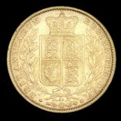 Great Britain Gold Sovereign 1866 Die no.50 Shield Back Condition: please request a condition report
