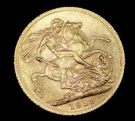 Great Britain Gold Sovereign 1913 NEF George V Condition: please request a condition report if you