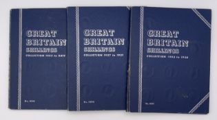 GB Shillings - Whitman Folders containing a complete run 1902-1966. All in collectable condition