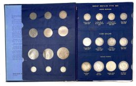 G.B. Queen Victoria Type Set in special Whitmans Folder. Incomplete (7 missing) but includes some