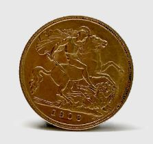 Great Britain Gold Half Sovereign 1906 King Edward VII Condition: please request a condition