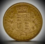 Great Britain Gold Sovereign 1864 Die no.81 Shield Back Condition: please request a condition report