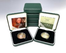 Great Britain Silver Proof £2 coins All with certificates in boxes of issue - 2007 Abolition of